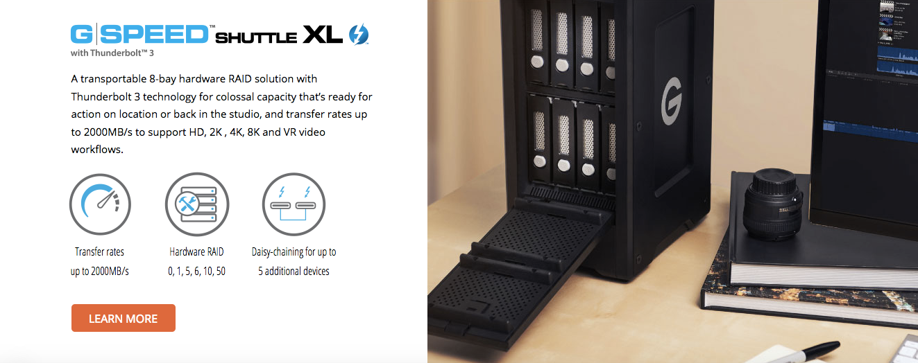 G-Speed Shuttle XL 32TB